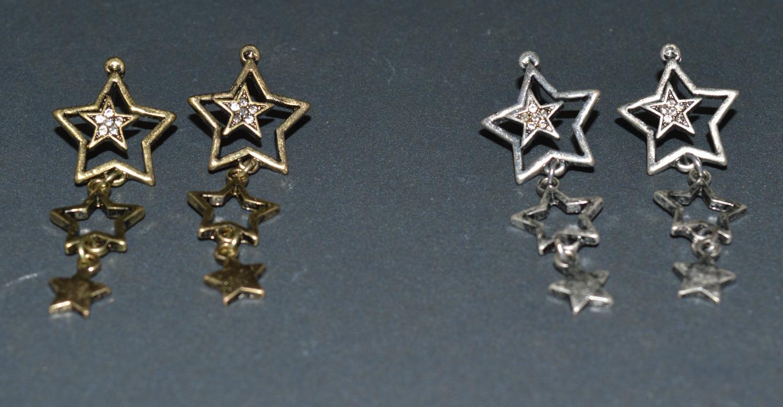 Trio Star Drop Earring