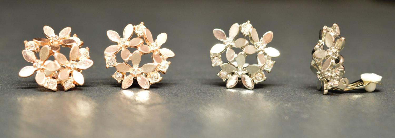 Ditsy Flower Clip Earring
