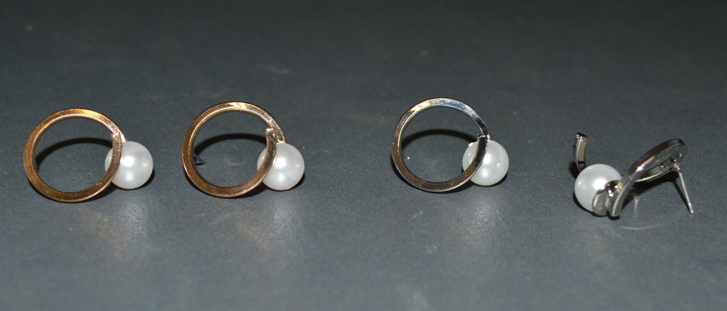 Hoop Earring with Pearl Detail