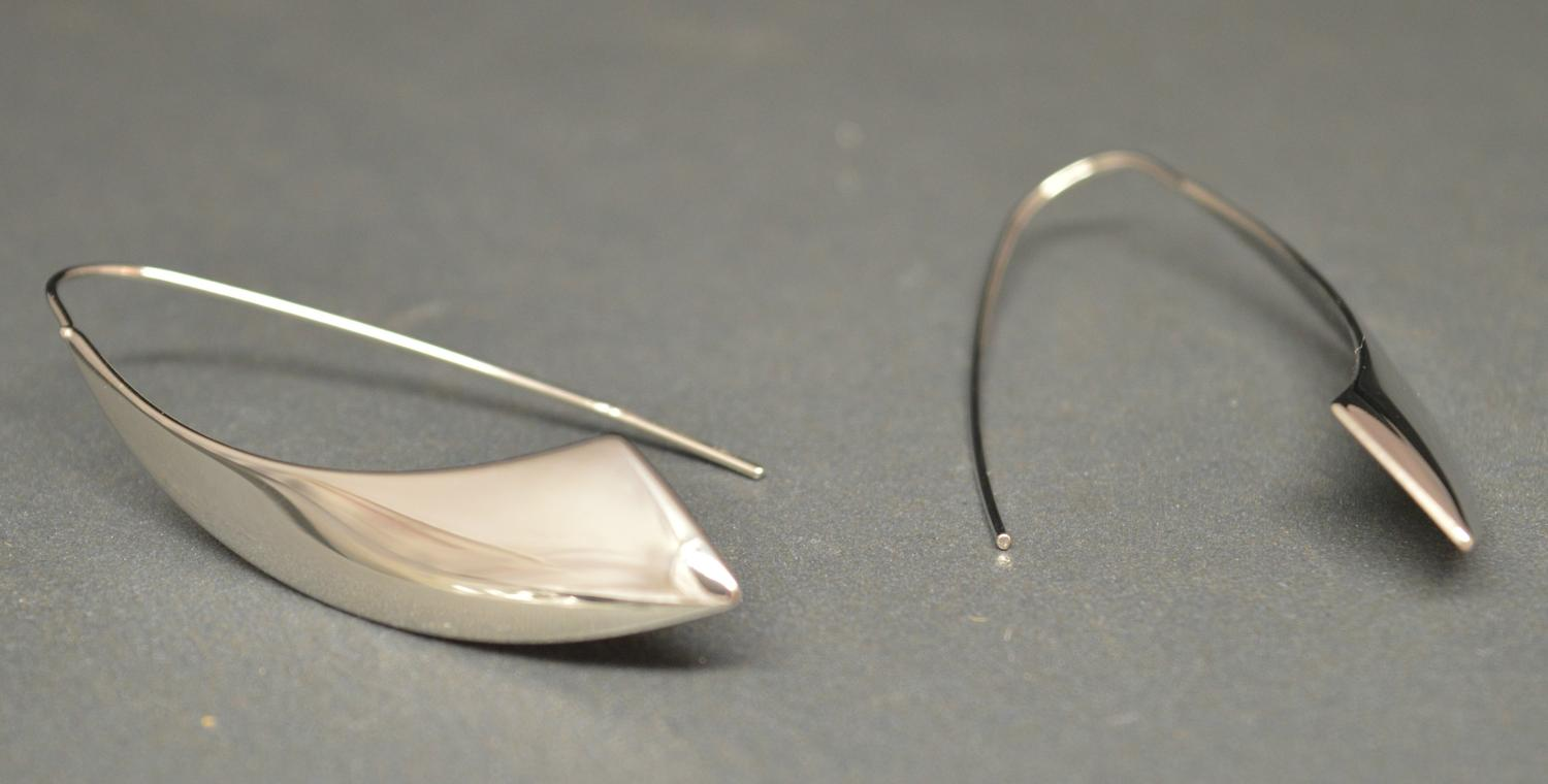 Simple Silver Coloured Drop Earring