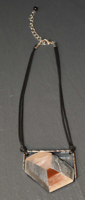 Large Multi Acrylic Piece Necklace
