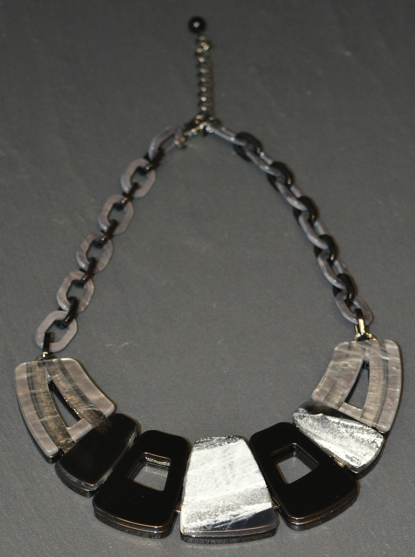Black and Grey Acrylic Necklace