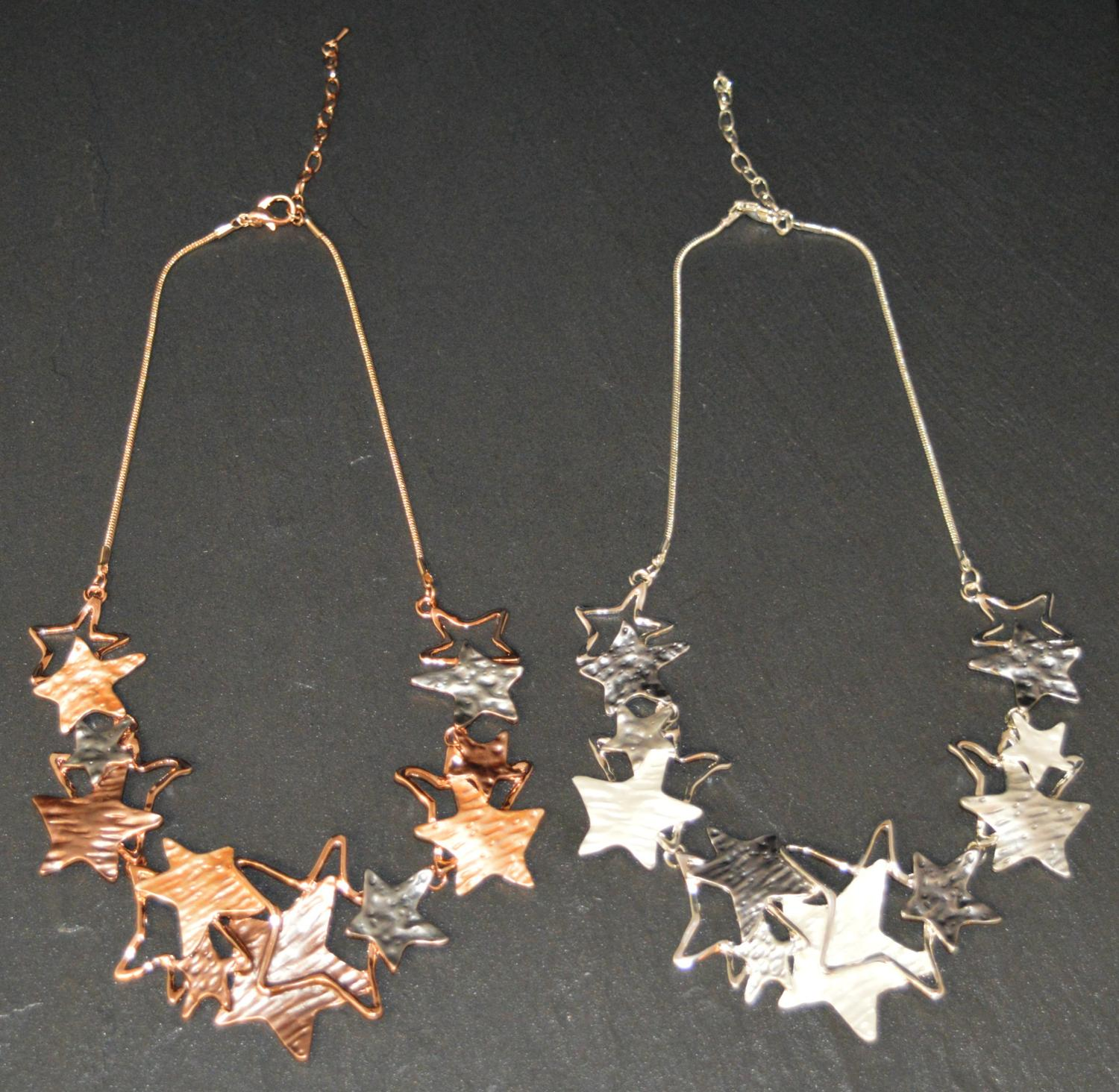 Matt and Polished Star Necklace