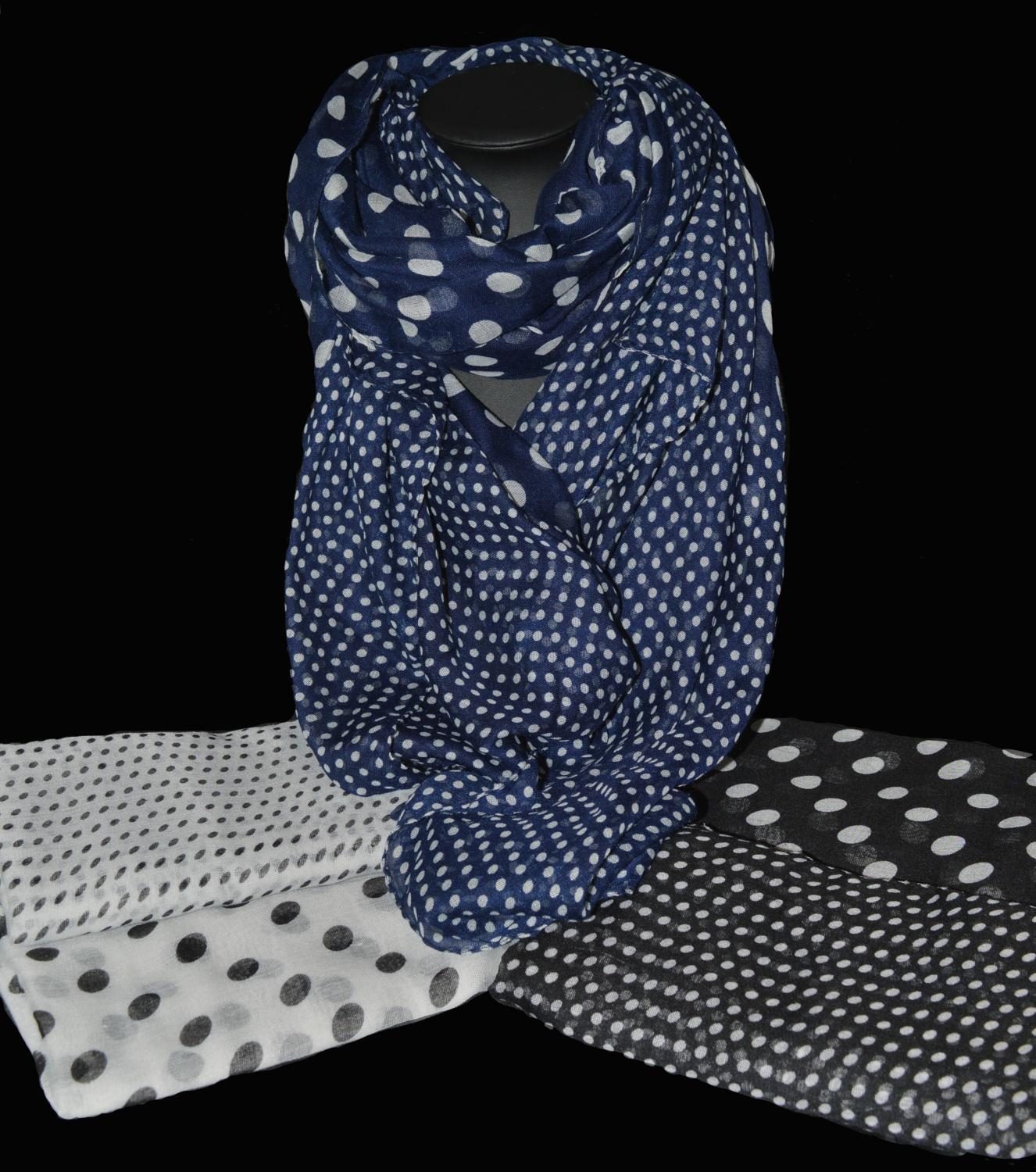 Small and Large Spot Scarf