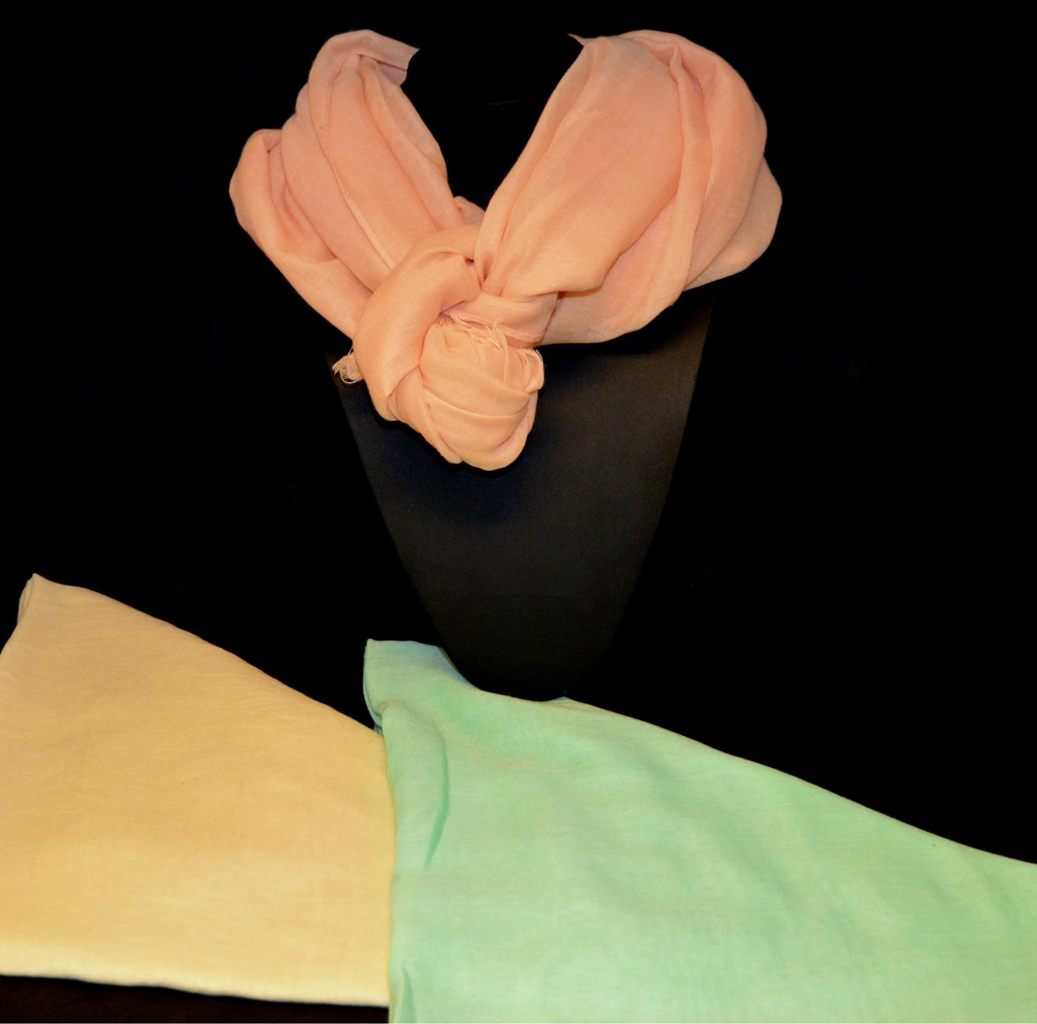 Plain Cotton Feel Scarf