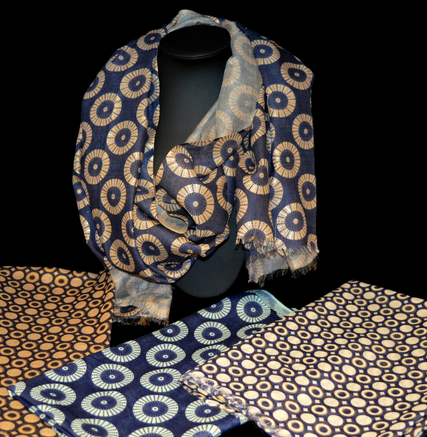 Abstract Pattern Scarf (Two Designs)