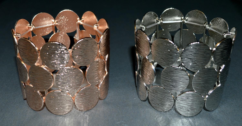 Mini Circle Worn Panel Elasticated Bracelet