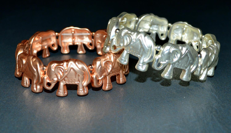 Matt Elephant Elasticated Bracelet