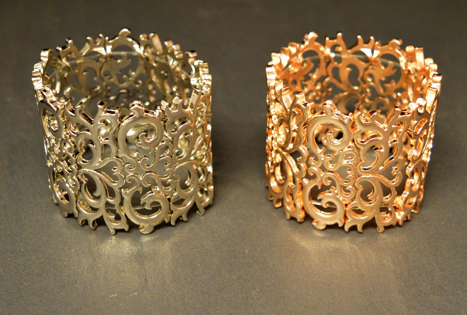 Large Filigree Elasticated Bracelet