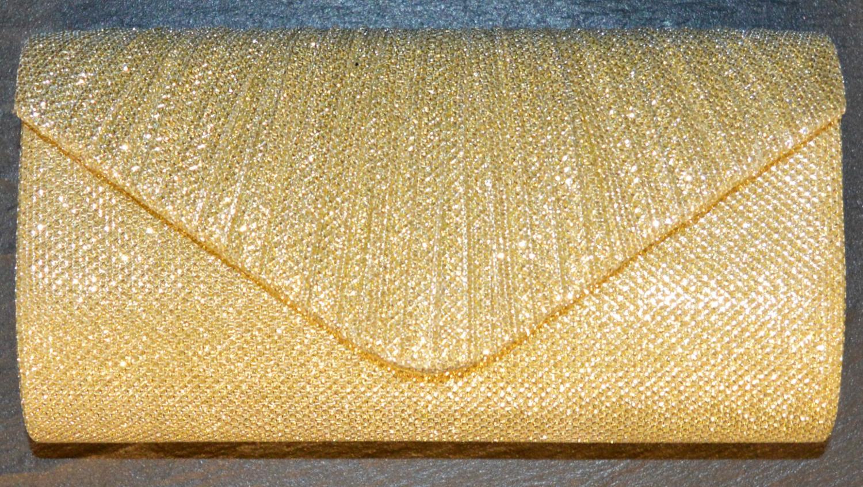 Metallic Envelope Style Evening Bag