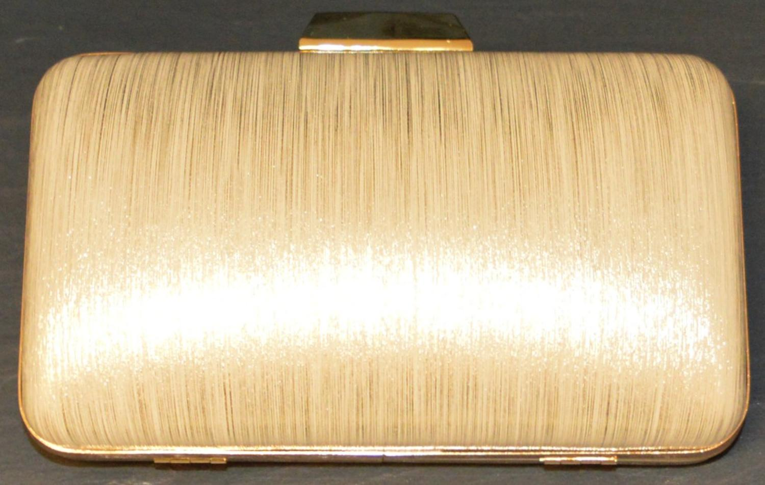 Matt and Metallic Effect Clutch Bag