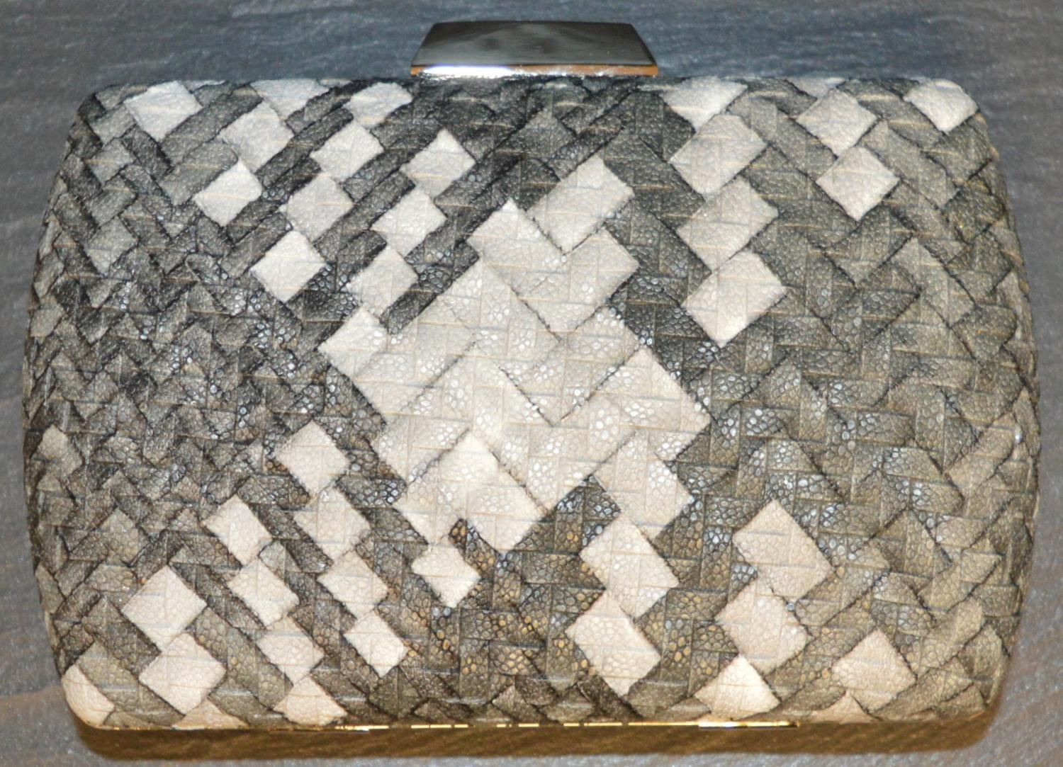 Weave Effect Clutch Bag