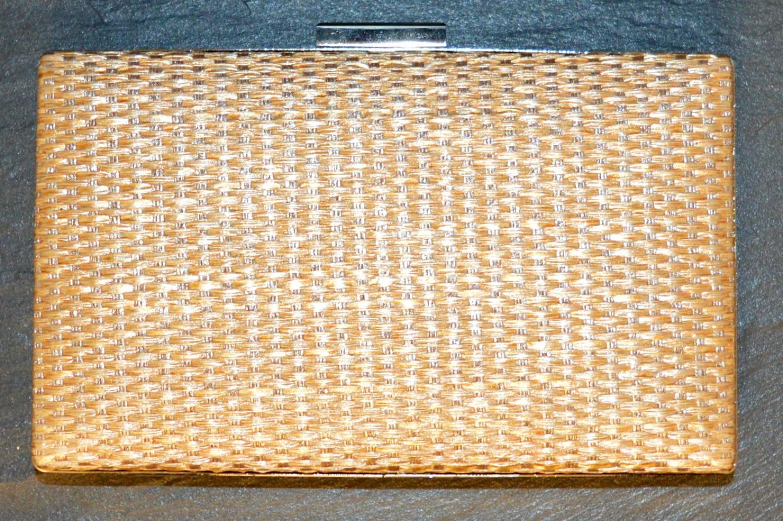 Weave Effect Clutch Bag