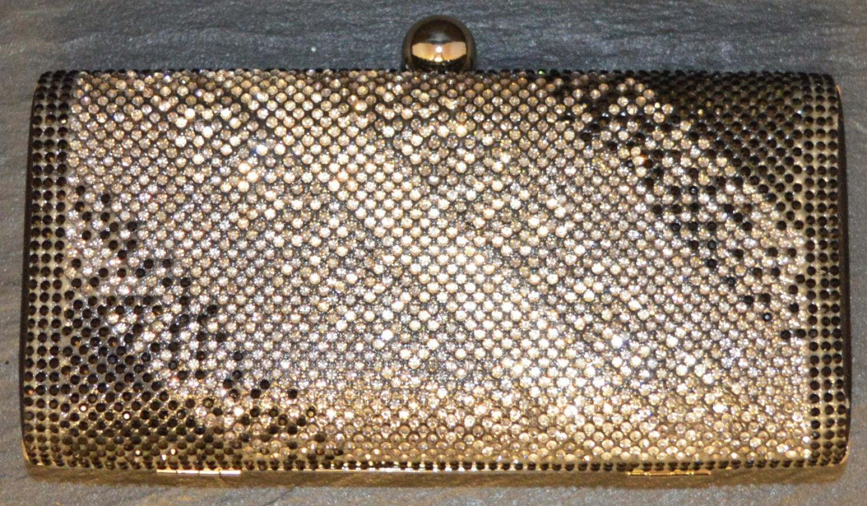 Diamante Ombre Effect Clutch Bag