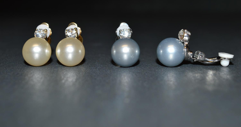 Pearl Effect Clip Earring