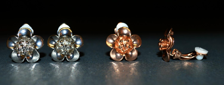Flower Clip Earring