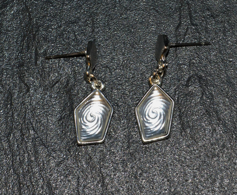 Pentagonal Drop Earring