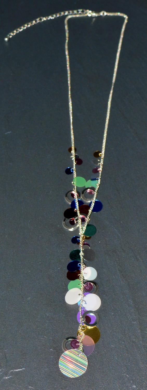Multi Coloured Sequin Necklace