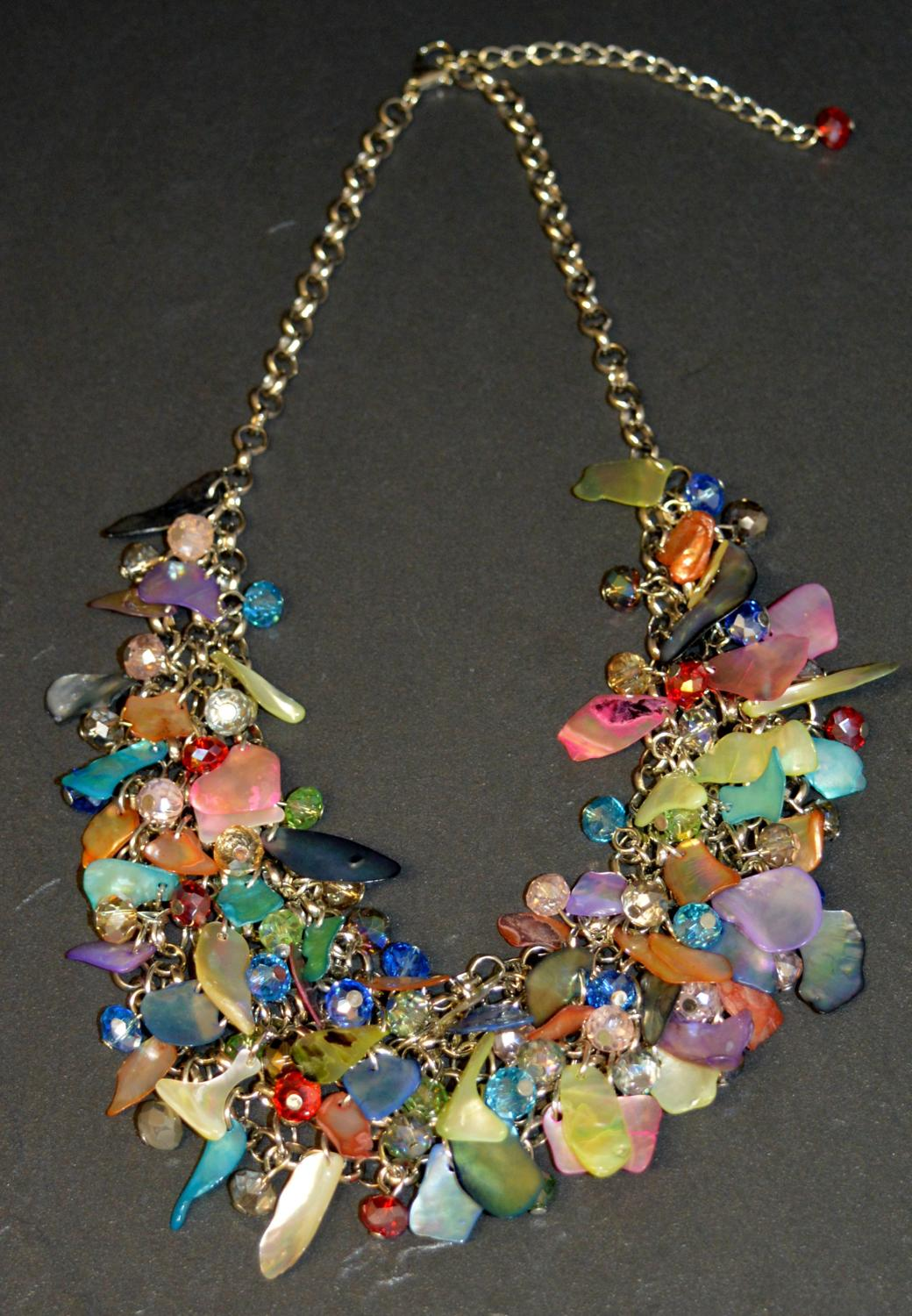 Colourful Shell and Stone Chip Necklace