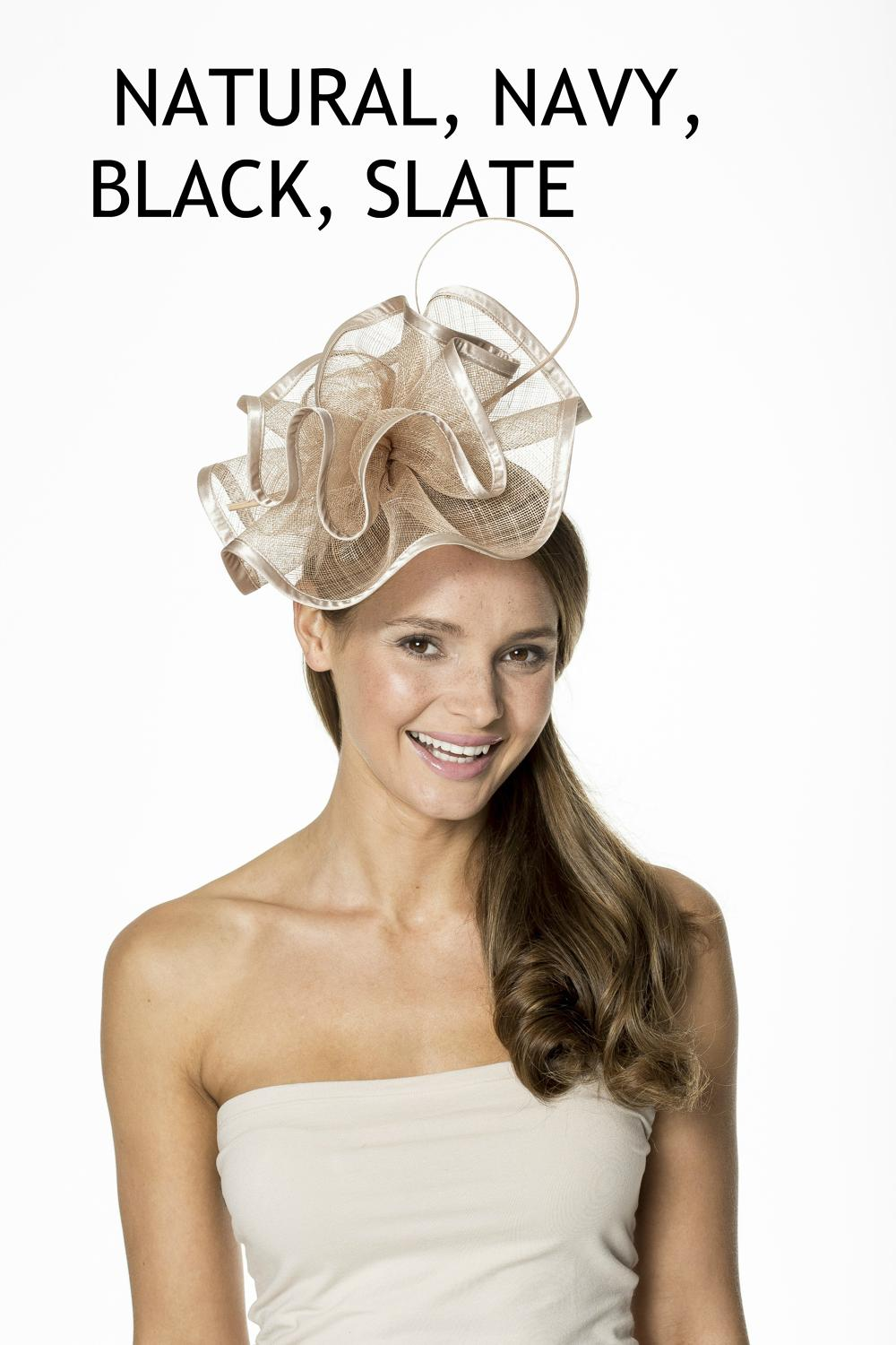 Free Form Sinamay Fascinator Band