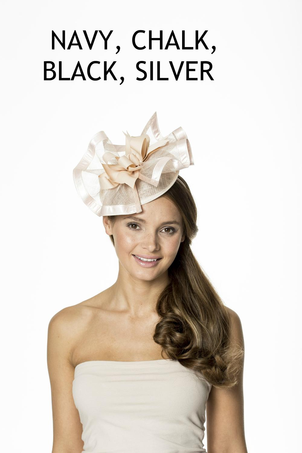 Free Form Sinamay Fascinator Band with Satin Trim