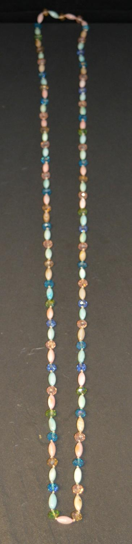 Long Pastel Coloured Long Necklace