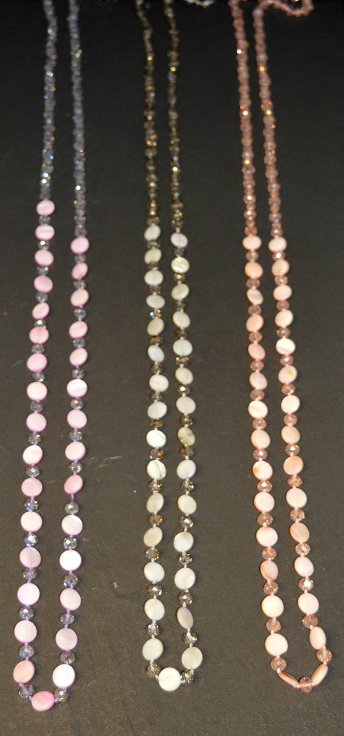 Long Facet Bead Necklace