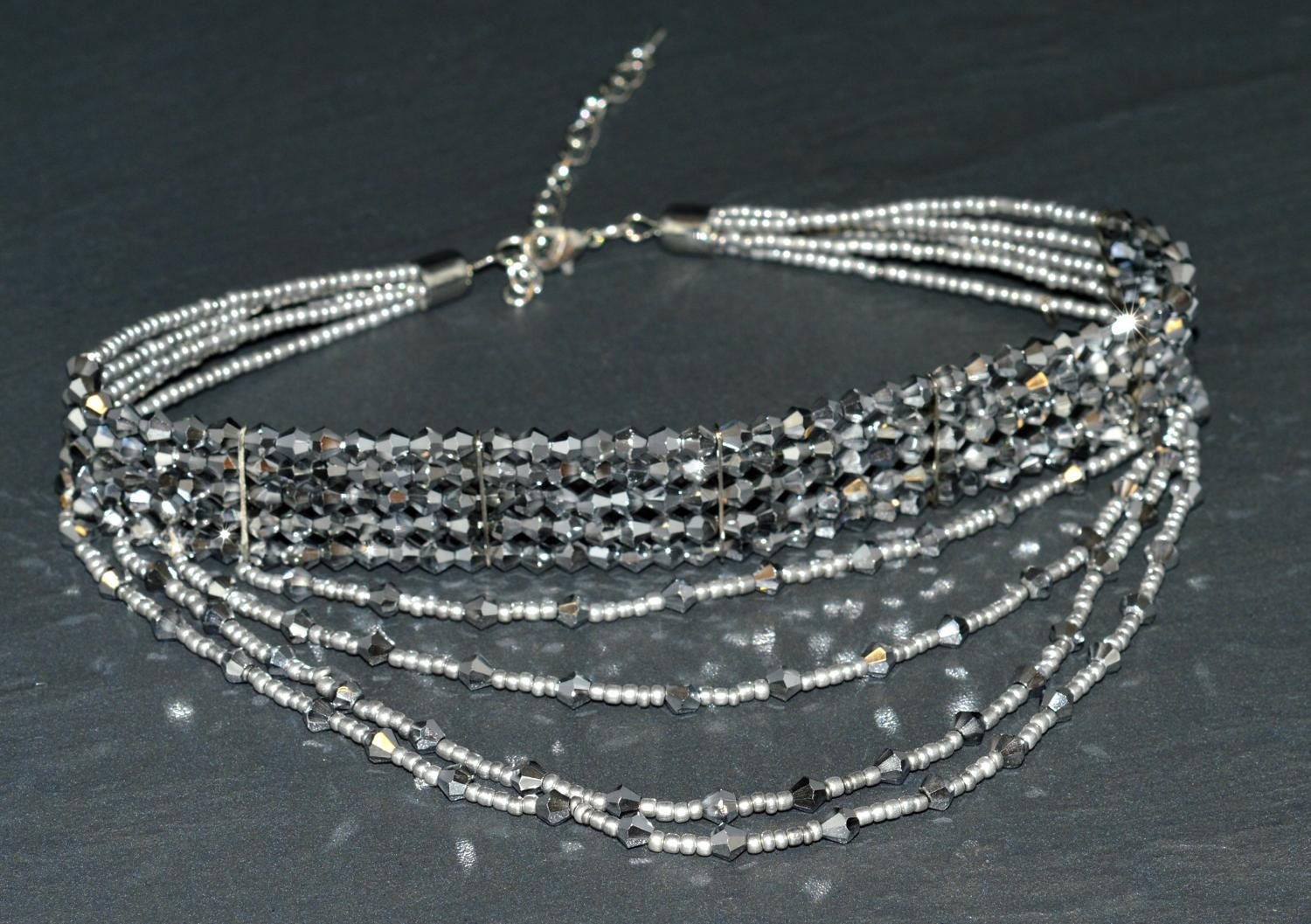 Multi Row Beaded Choker