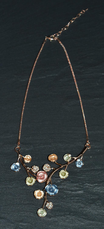 Pastel Poppy Enamel Necklace