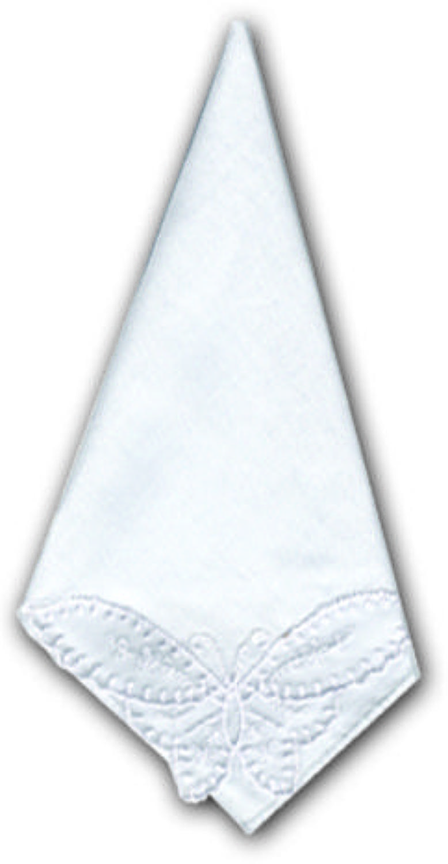 Ladies Butterfly Lace Corner Loose Handkerchiefs