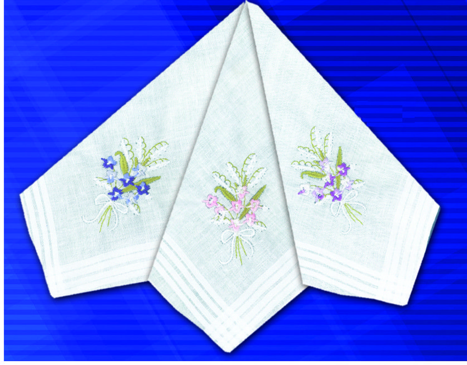 Ladies Coloured Embroidered Handkerchief