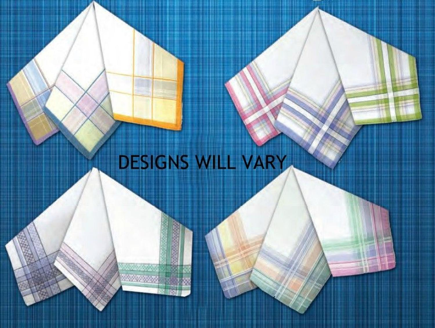 Ladies Colour Woven Border Handkerchiefs