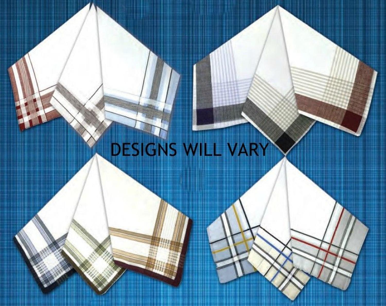 Mens Colour Woven Border Handkerchiefs