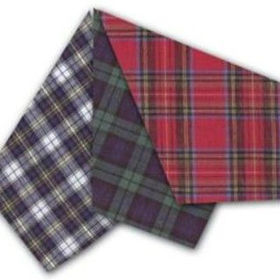 Mens Assorted Tartan Handkerchiefs