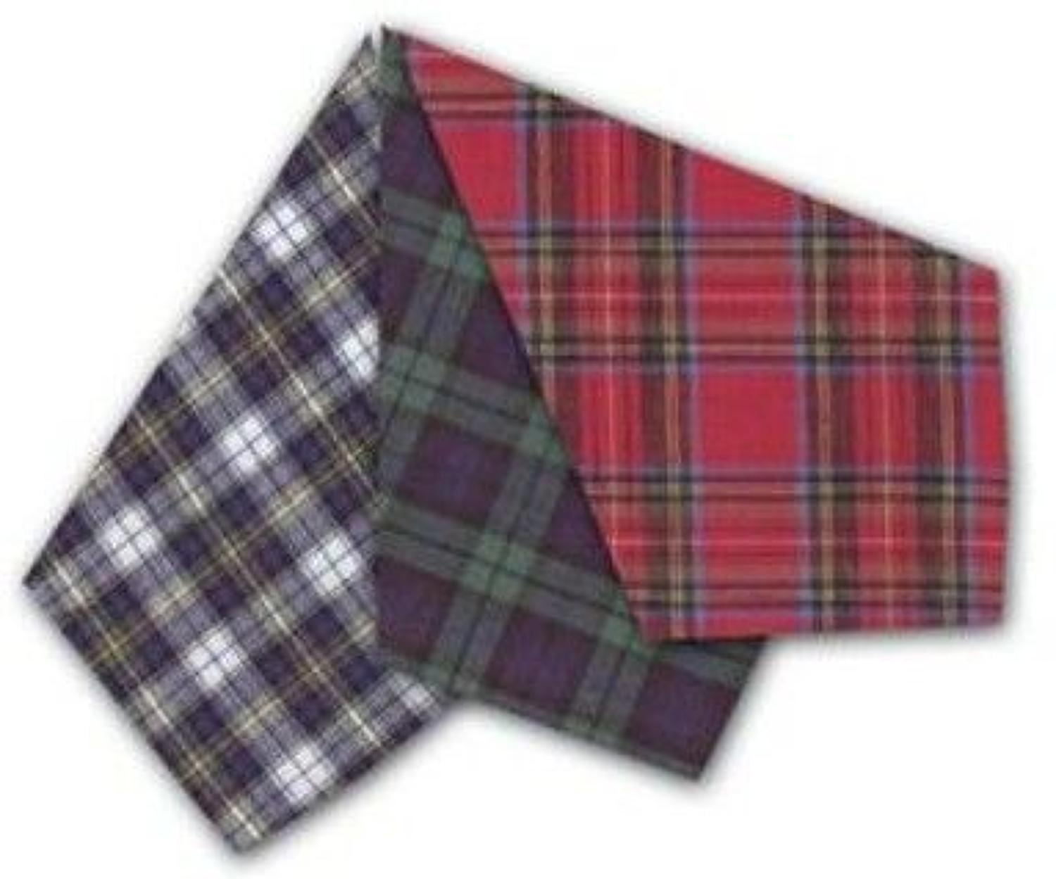 Mens Assorted Tartan Handkerchiefs
