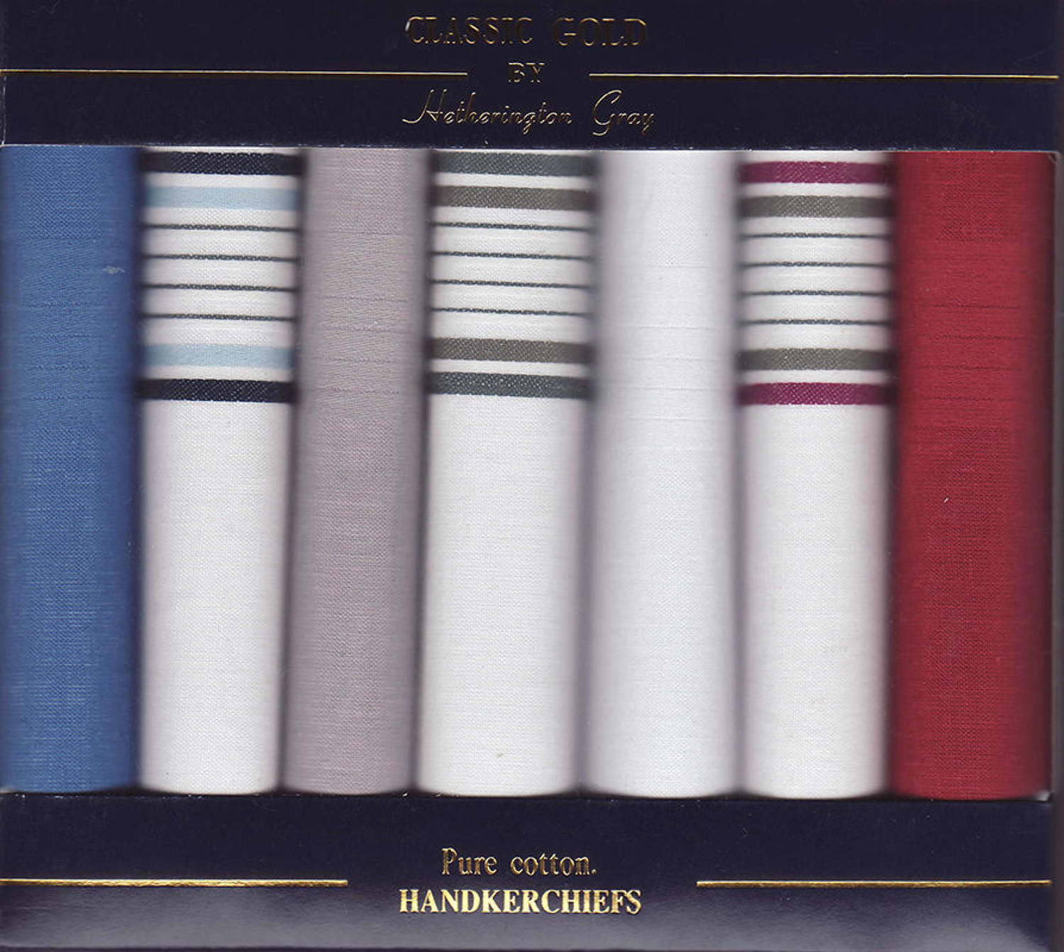 Mens 7 Pack Assorted Dyed & Coloured Satin Border Handkerchiefs