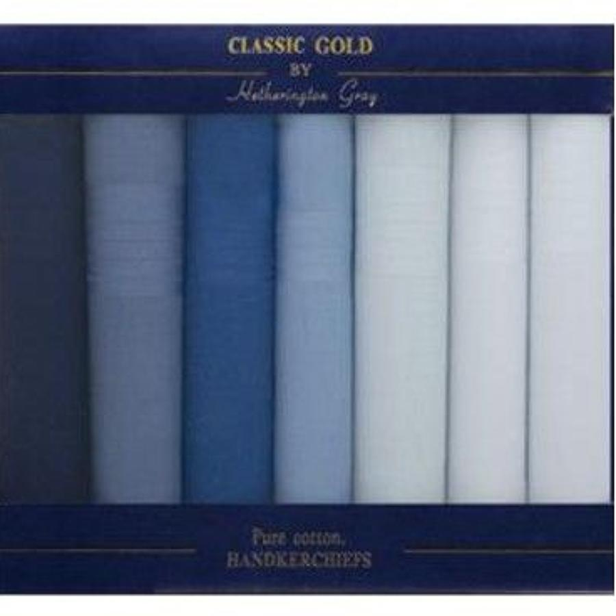 Mens 7 Pack Dyed and White Satin Handkerchiefs